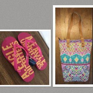 Zippered Boho Bag Pink